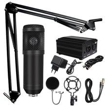 Profissional microfone bm 800 karaoke microfone condensador kits de microfone pacote microfone para gravação de estúdio computador