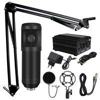 Professional microfone BM 800 Karaoke Microphone Condenser Microphone Kits Bundle Microphone for Computer Studio Recording