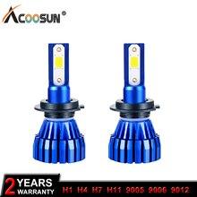 Светодио дный авто фар H4 светодио дный H7 H11 H8 9005 9006 H1 H3 HB3 HB4 удара 4300 К 6500 К лампы K2 безвентиляторный фары 50 Вт 5000LM 12 В лампа