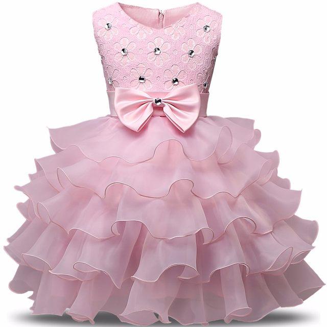 Online Shop Baby Baptism Dresses Girls Kids Prom Party Dresses For