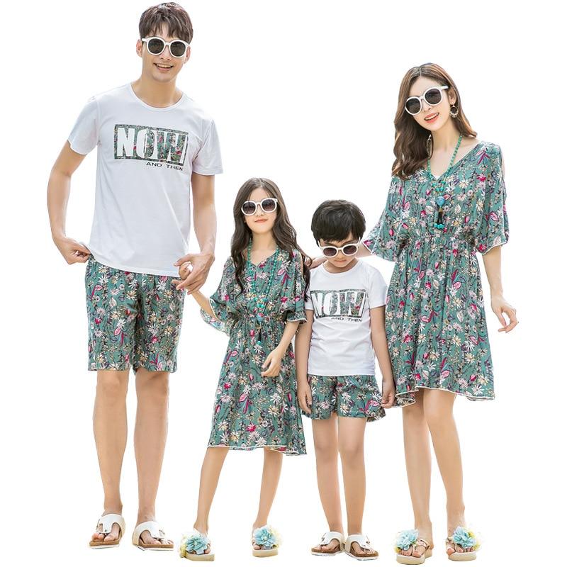 2019 Summer Family Matching Beach Clothes Seaside Beach ...