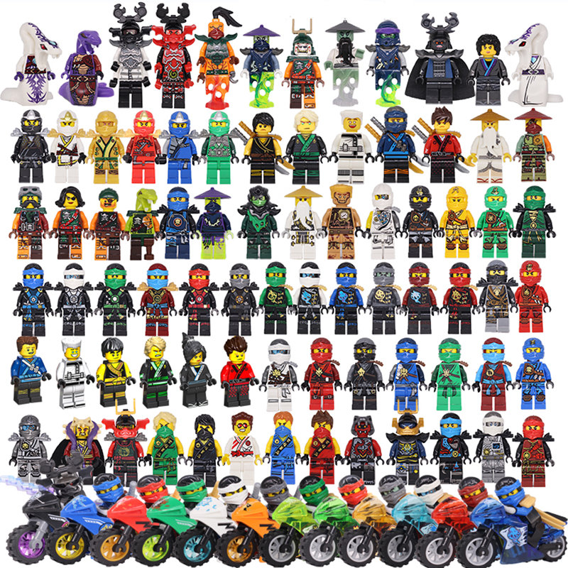 2018 Compatible LegoINGlys NinjagoINGlys Sets NINJA Heroes Kai Jay Cole Zane Nya Lloyd With Weapons Action Toys For Children 8pcs s compatible legoings ninjagoes with weapon ninja kai cole jay zane lloyd nya building blocks kids toys gifts for children