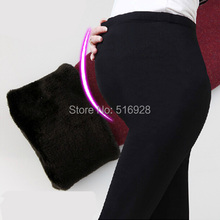Suspender knitted velvet trousers pregnancy leggings warm waist clothes pregnant pants