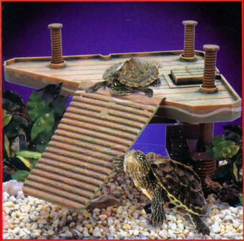 Aquarium Tank Decoration Terrapin Reptile Frog Turtle Pier Basking Ramp Platform