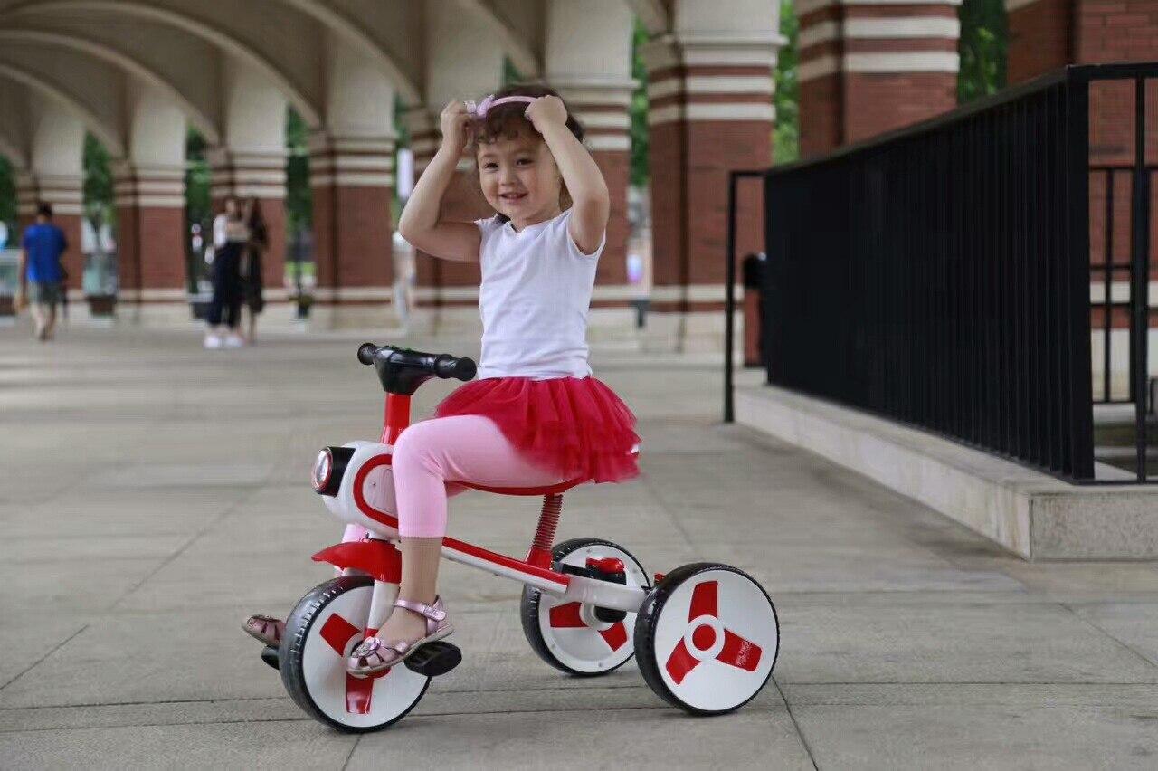 Nouveau Réversible Enfants de Tricycle Vélo 2-6 Ans Grand Scooter Enfants de Vélo Pliant Une Voiture Double -utiliser Tour Jouet De Voiture - 6