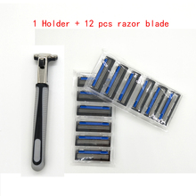 1 Razor Holder   12pcs Three Layer Razor Blade For Men