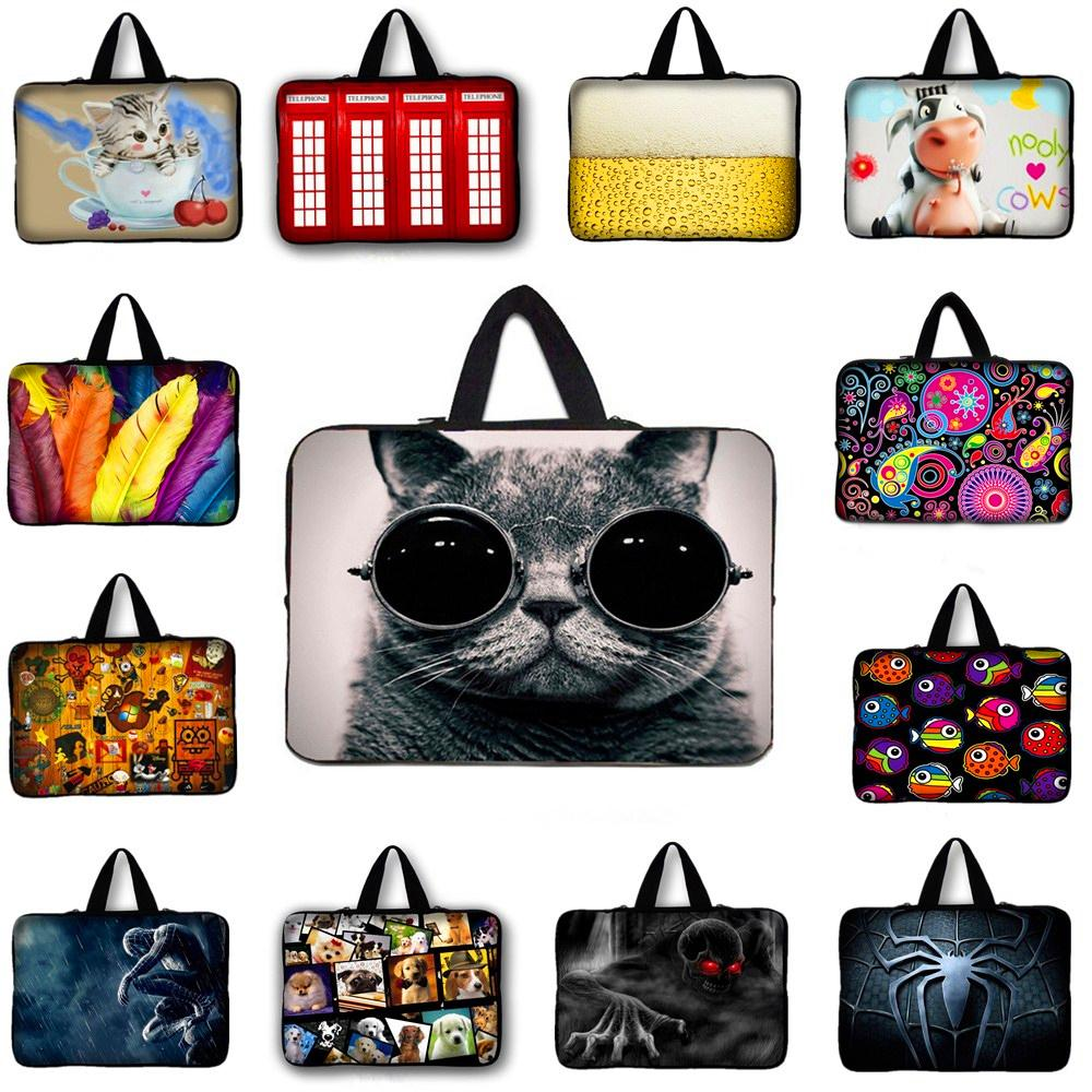 15 15.4 15.6 Cute Cat Neoprene Laptop Bag Tablet Sleeve Pouch Bag For Notebook Computer Bag 15.4 15.6 For Macbook Air / Pro