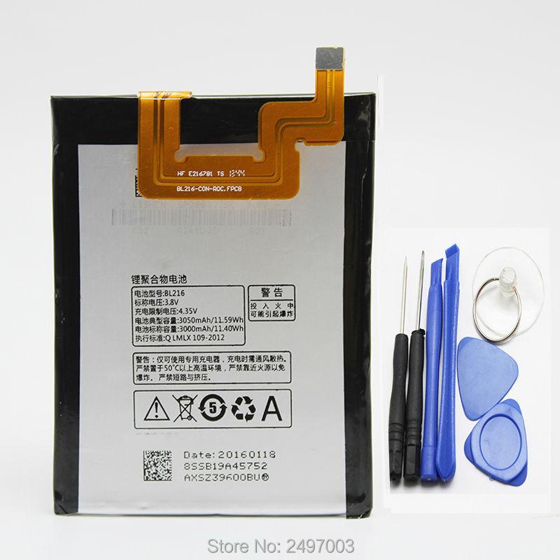 100% Original Battery For Lenovo VIBE Z K910 K 910 K910e BL216 BL 216 BL-216 <font><b>3000mAh</b></font> Mobile <font><b>Phone</b></font> Replacement + Opening Tools