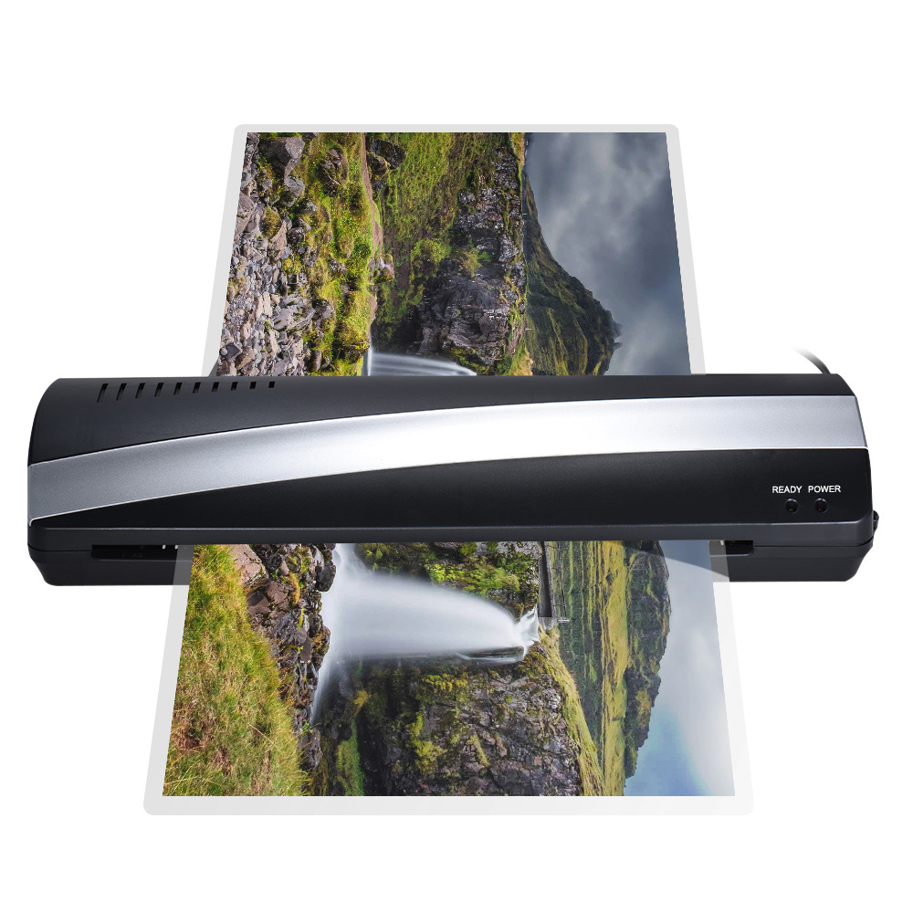 A3 13inch Width Photo Paper Hot And Cold Thermal Laminator Machine Quick Warm-up Fast Laminating Speed With Pouch Board