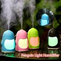 150ML Fashion Color Q Bottle Ultrasonic Humidifier Portable USB Night Light Aroma Diffusers Car Mini Humidifiers