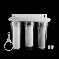 Penjernih Air 3 Tahap Filter Cartridge Pp UDF CTO Sistem Filter Air untuk Rumah Tangga Lurus Penjernih Air Minum