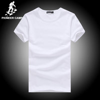 Free Shipping Men S Solid Color T Shirt Hand Printed O Neck Culture T Shirt Bottoming