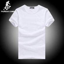 Pioneer camp t shirt men marca clothing verano sólido t-shirt hombre casual camiseta de la moda para hombre de manga corta más el tamaño 4xl(China (Mainland))