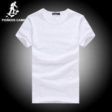 Pioneer Camp cotton t shirt men 4XL 2017 summer solid t-shirts male casual tshirt fashion mens short sleeve t shirt slim fit