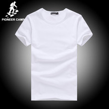 Pioneer Camp t shirt men brand clothing summer solid t-shirt male casual tshirt fashion mens short sleeve plus size 4XL