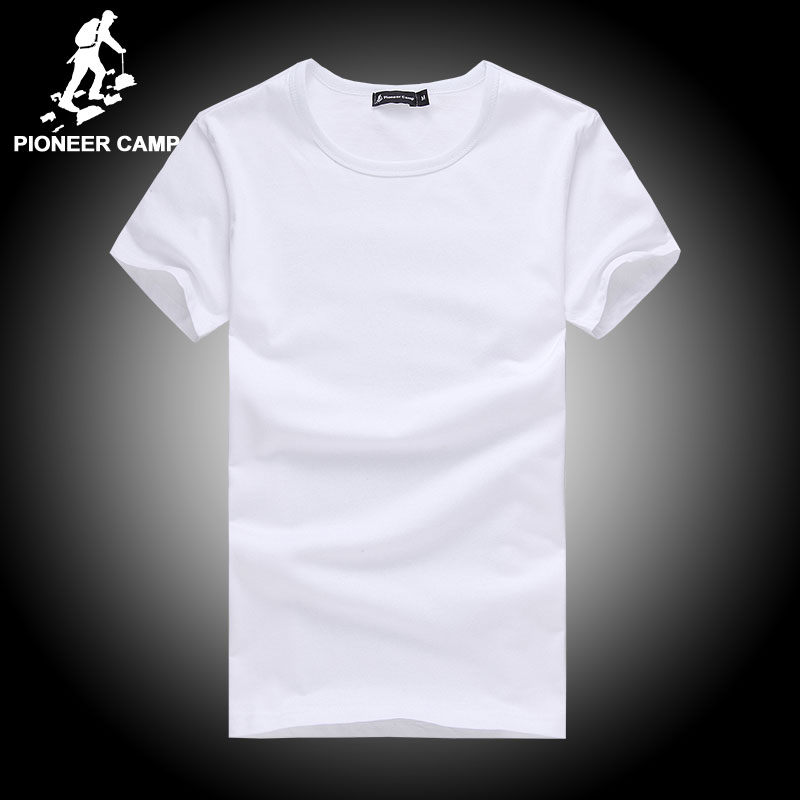 Pioneer Camp t shirt men brand clothing summer solid t-shirt male casual tshirt fashion mens short sleeve plus size 4XL