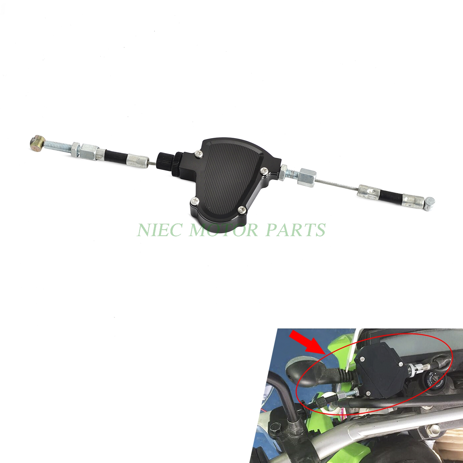 Image 2 - CNC Universal Stunt Clutch Easy Pull Cable System Motorcycles Dirt Bike For Honda Yamaha Suzuki Kawasaki Ducati Triumph-in Levers, Ropes & Cables from Automobiles & Motorcycles