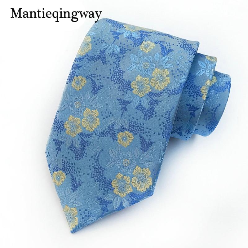 Mantieqingway 8 см с цветочным принтом Средства ухода за кожей шеи галстук для мужские брак Бизнес Средства ухода за кожей шеи галстук для вечерние...