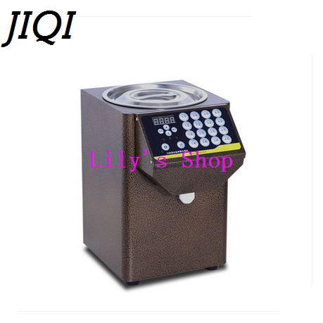 Fructose quantification machine Bubble milk tea shop automatic precision 16 grid coffee fructose quantitative Syrup Dispenser stainless steel household milkshake machine single head commercial milk tea shop electric mixer milk bubble machine