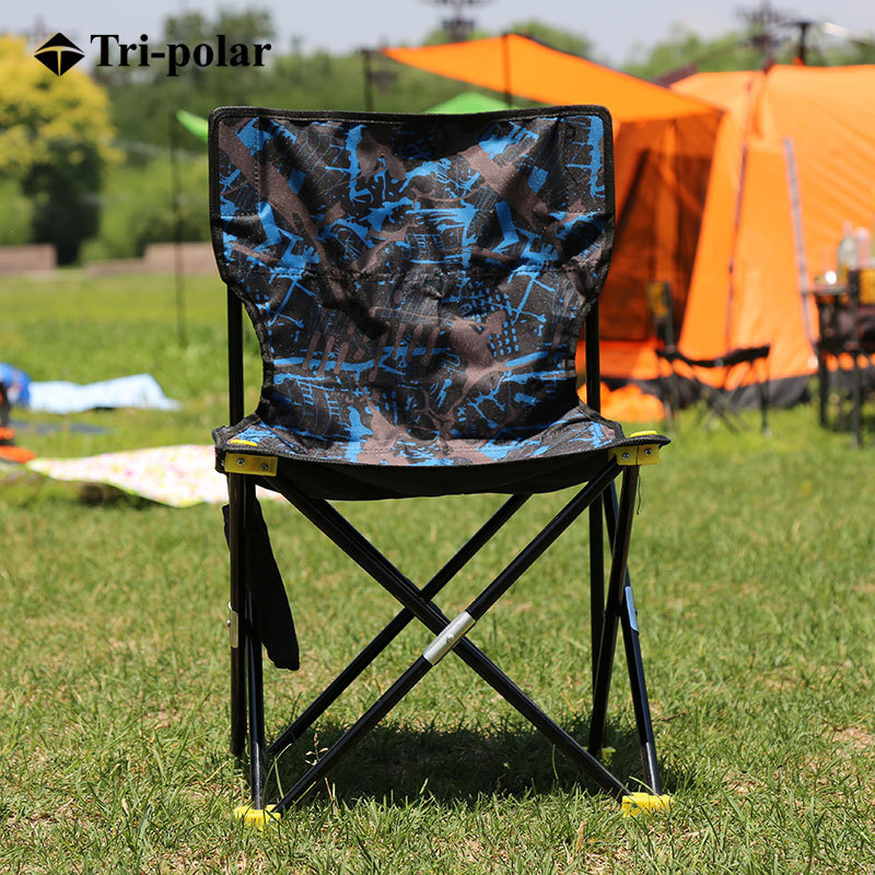 Tri-polar Outdoor Portable Folding Chair, Fishing Stool Outdoors Leisure Camping Chair TP8805 bamboo bamboo portable folding stool have small bench wooden fishing outdoor folding stool campstool train