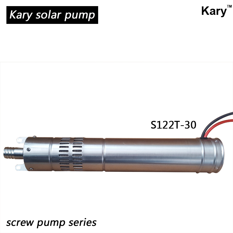 Kary deep well solar pump 12v, solar submersible water pump low power high head 550w high efficiency submersible deep well water pump max head 65m household centrifugal well pump