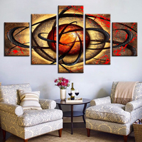 5 Pcs/Set Canvas Print Pictures Living Room Eye Poster Abstract Beads Background Painting Artwork Fashion Home Decor