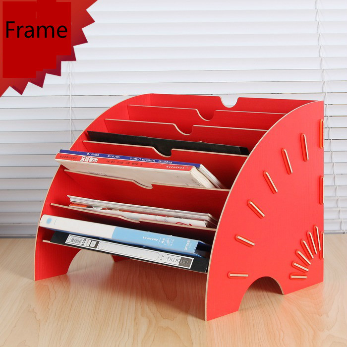 office paper holders. Wooden Data Frame A4 Document Tray DIY Desktop Holder File Paper Assemble Oneself Office Supplies-in From \u0026 School Holders Y