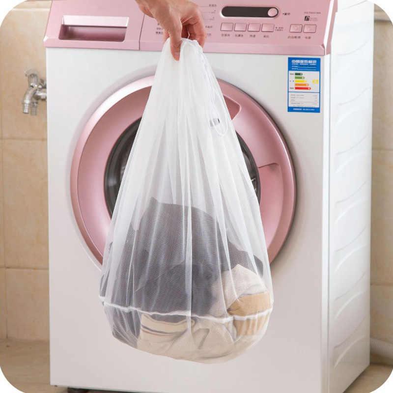 1 pcs Filtro de Rede de Proteção Saco de Roupa Cuidados Com a Roupa saco de Lavagem Dobrável Lavandaria Lavar Saco de Roupa Underwear Bra Meias Roupa Interior