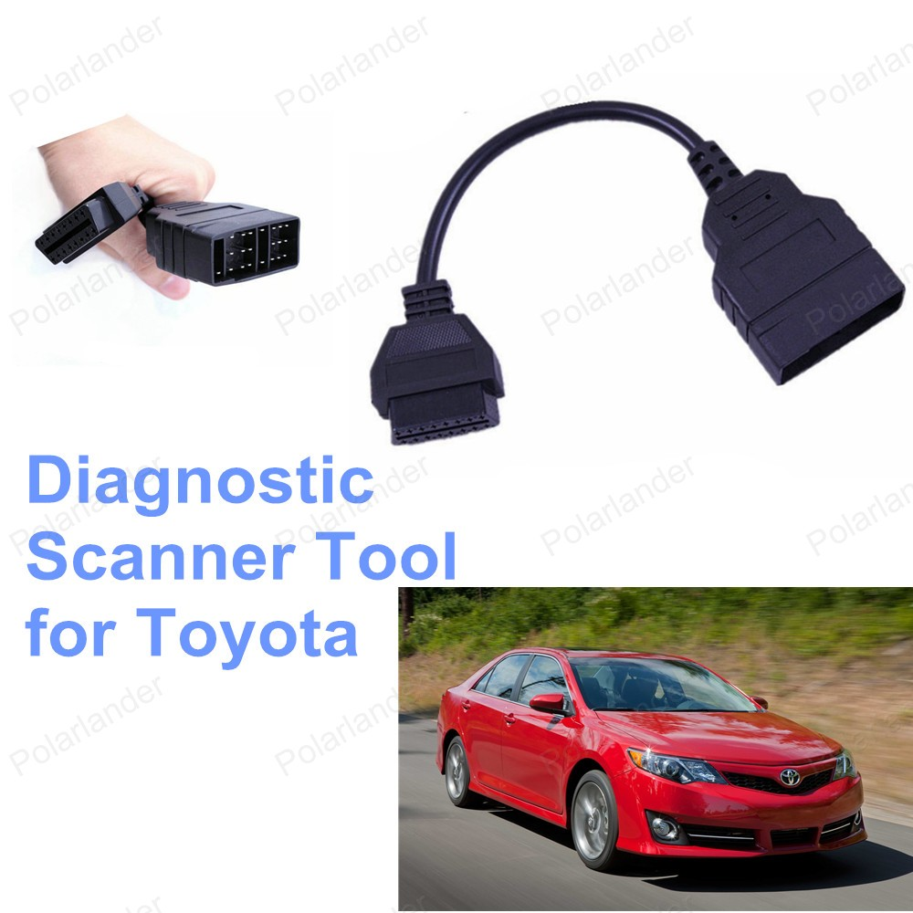 Car Scanner Cable Free Shipping <font><b>22</b></font> <font><b>Pin</b></font> To 16 <font><b>Pin</b></font> <font><b>OBD2</b></font> Diagnostic <font><b>Adapter</b></font> Cable For <font><b>Toyota</b></font> Hot Sell image