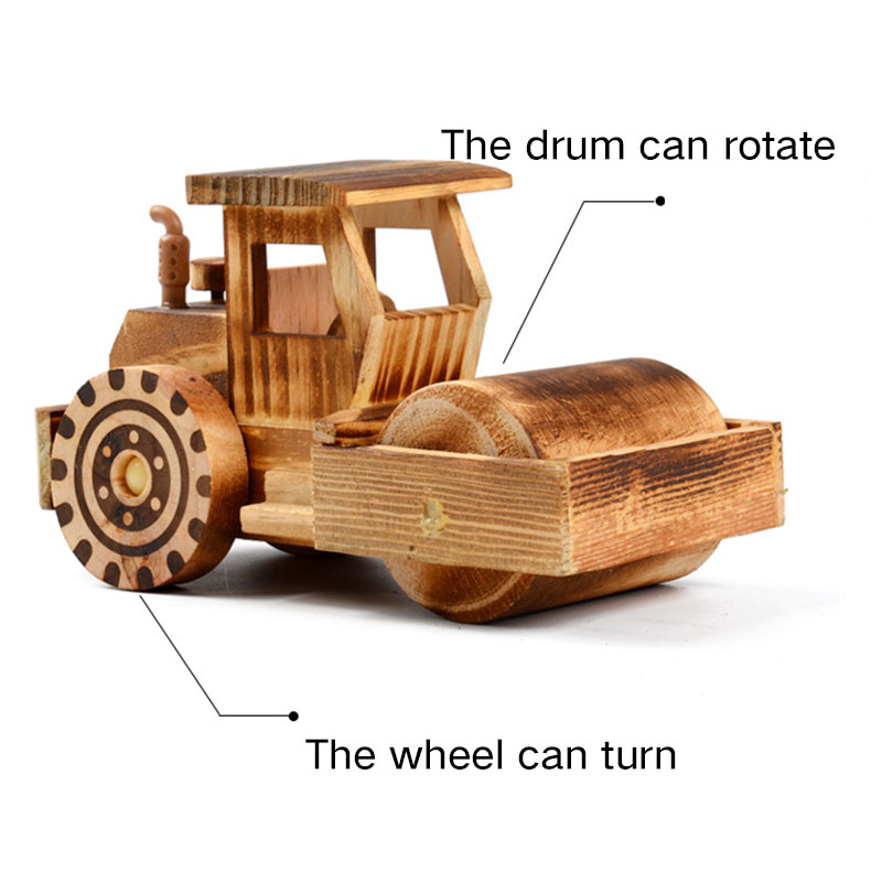 Kids Wooden Toy Simulation Street Roller Car For Children Wood Car Model Crafts Boys Girls Gift In Model Building Kits From Toys Hobbies On