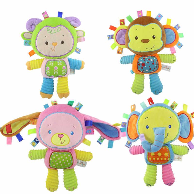 5 стилей детские игрушки погремушки Игрушка антистресс плюшевые игрушки, погремушки для младенцев колокольчики животных Newbron животных Слон/обезьяна/Лев/Кролик