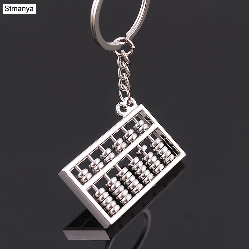 New Design Unique Creative Luxury metal Keychain Car Key Chain Key Ring Abacus chain color pendant For Best Gift wholesale high grade metal creative car key chain