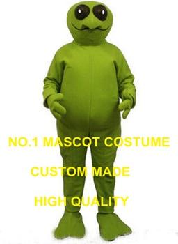 新しいハロウィングリーンエイリアンマスコット衣装大人地球外知的生命体テーママスコットファンシーdressアニメcosply
