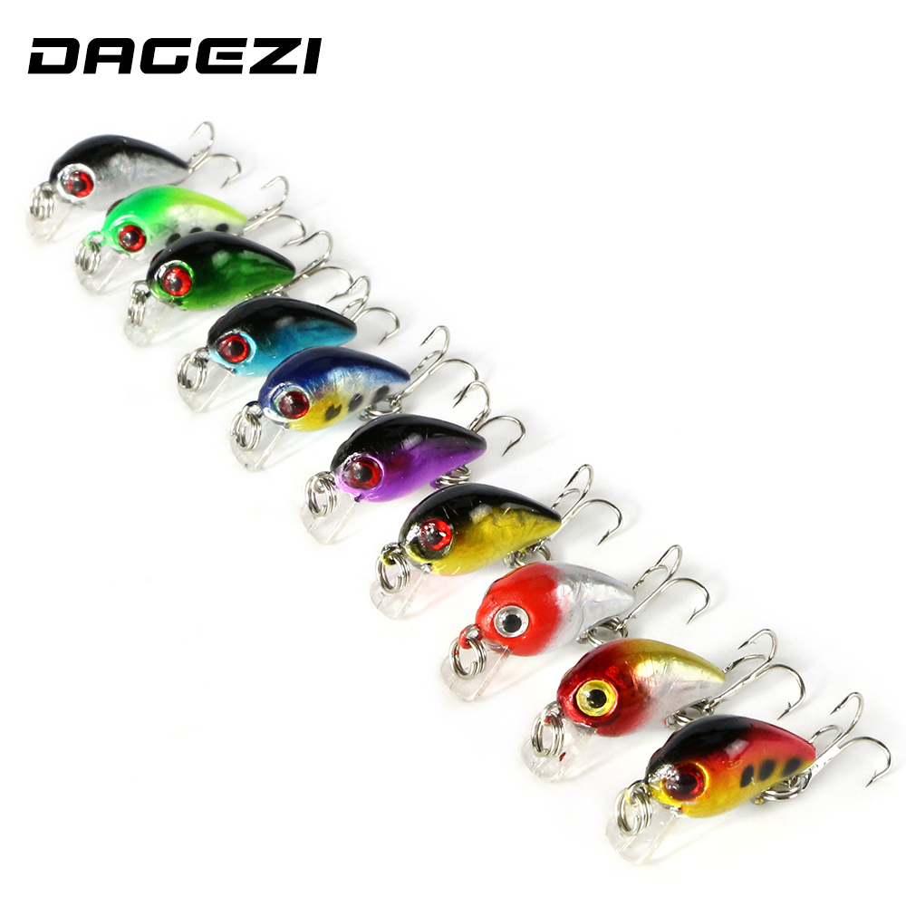 DAGEAI 10 pcs/lot 4CM 3D eyes Fishing Lure with 10# Hooks Plastic Lures Hard Baits Isca artificial lure Fishing Tackle 10pcs box metal spoon fishing lure hooks spinner baits sequins hard artificial jigging lure kits isca fishing tackle accessories