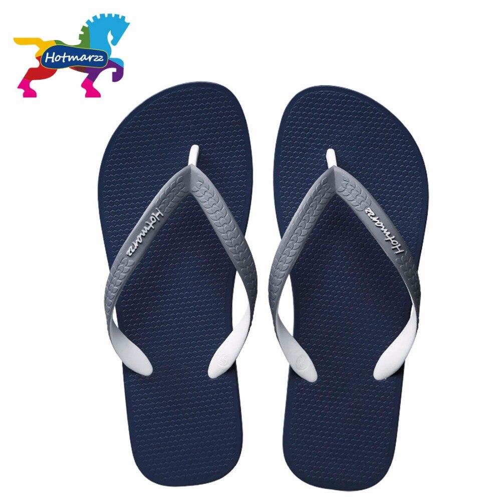 Hotmarzz Hommes Mode Sandales D'été Designer Flip Flops Marque Plage En Caoutchouc Diapositives Maison Chaussures Maison Pantoufles Hommes Chaussures