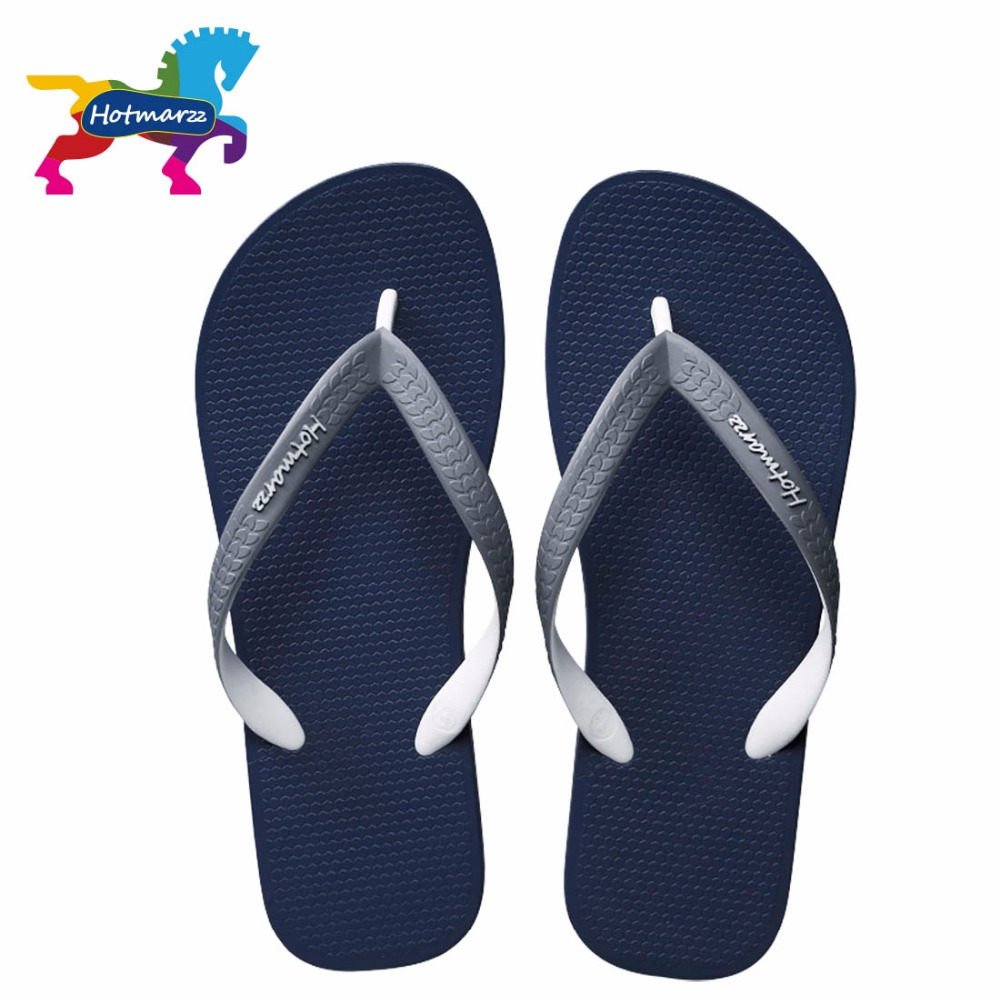 Hotmarzz Lelaki Sandal Fesyen Summer Designer Flip Flop Brand Beach Rubber Slides House Shoes Home Slippers Men Shoes