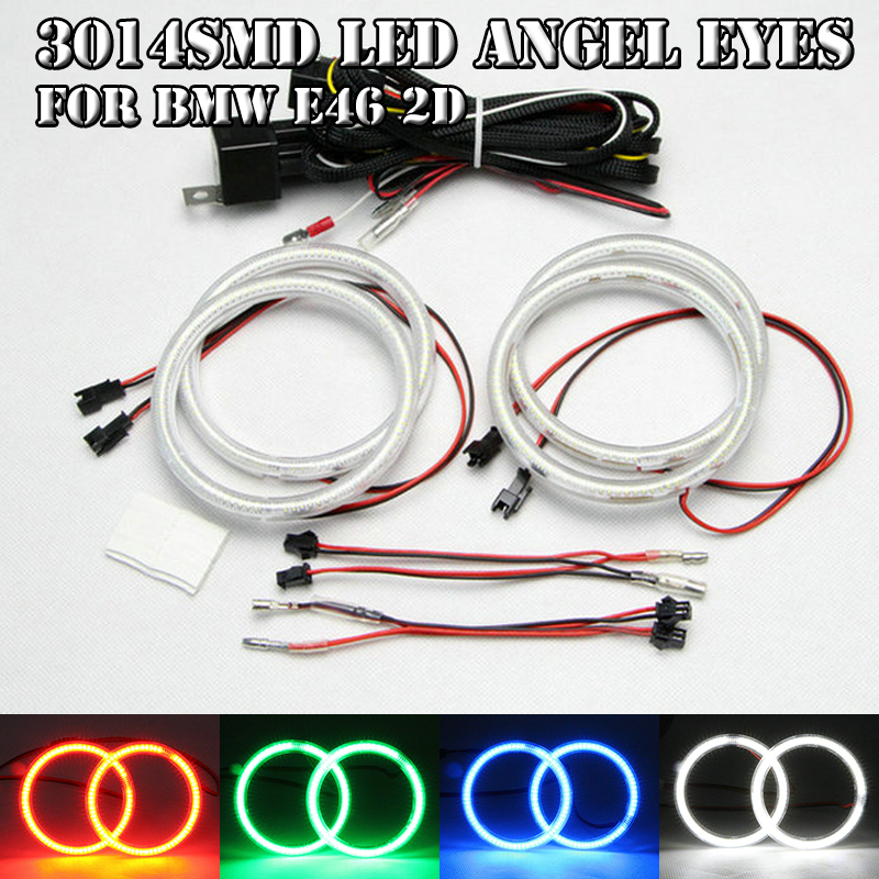 For Bmw E46 2D 2Door Coupe 2DR SMD Led Angel Eyes Halo Rings Kit White Red Green Blue 4PCs 105MM OD Led Fog DRL Daylight Rings куртка рыболовная мужская fisherman nova tour риф v2 цвет серый 95935 911 размер xl 54 page 9
