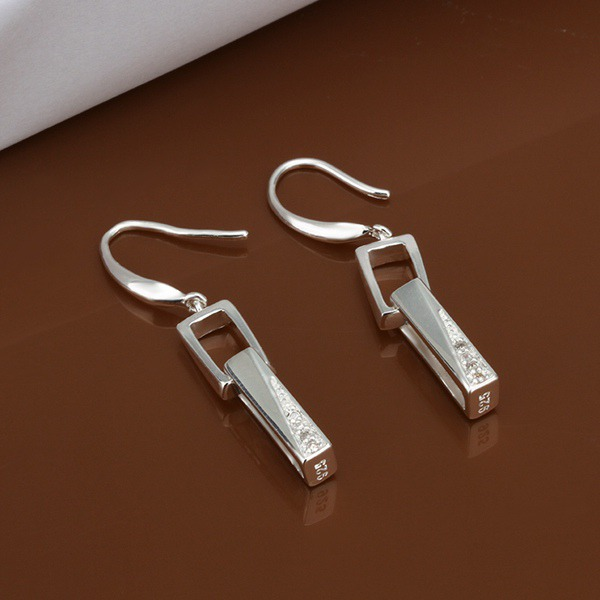 E440 Wholesale silver plated earrings , 925 jewelry silver plated  fashion jewelry ,  bagajrna flqaocxa