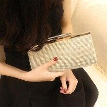 Diamanten frauen kleine geldbörse kupplungen handtaschen silber/gold strass abendtaschen für hochzeit dame umhängetasche