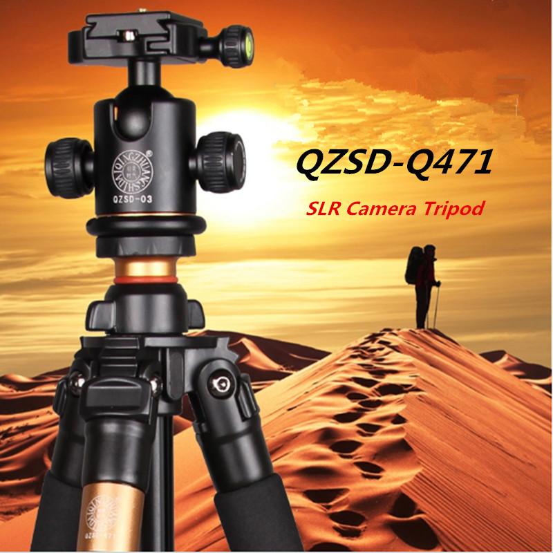 QZSD Q471 SLR Camer Tripod , Traveling Digital Tripod ,Ball Head+Monopod Free Shipping free shipping qzsd q999 portable tripod