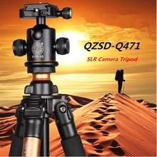 Sale QZSD Q471 SLR Camer Tripod , Traveling Digital Tripod ,Ball Head+Monopod Free Shipping