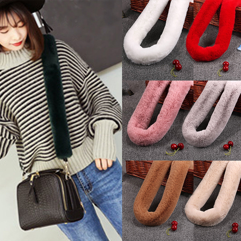 120 40CM DIY Replacement Bag Strap Bag Strap Fur handbag Straps Handle For Purse  Belts 8225a73ca8e53