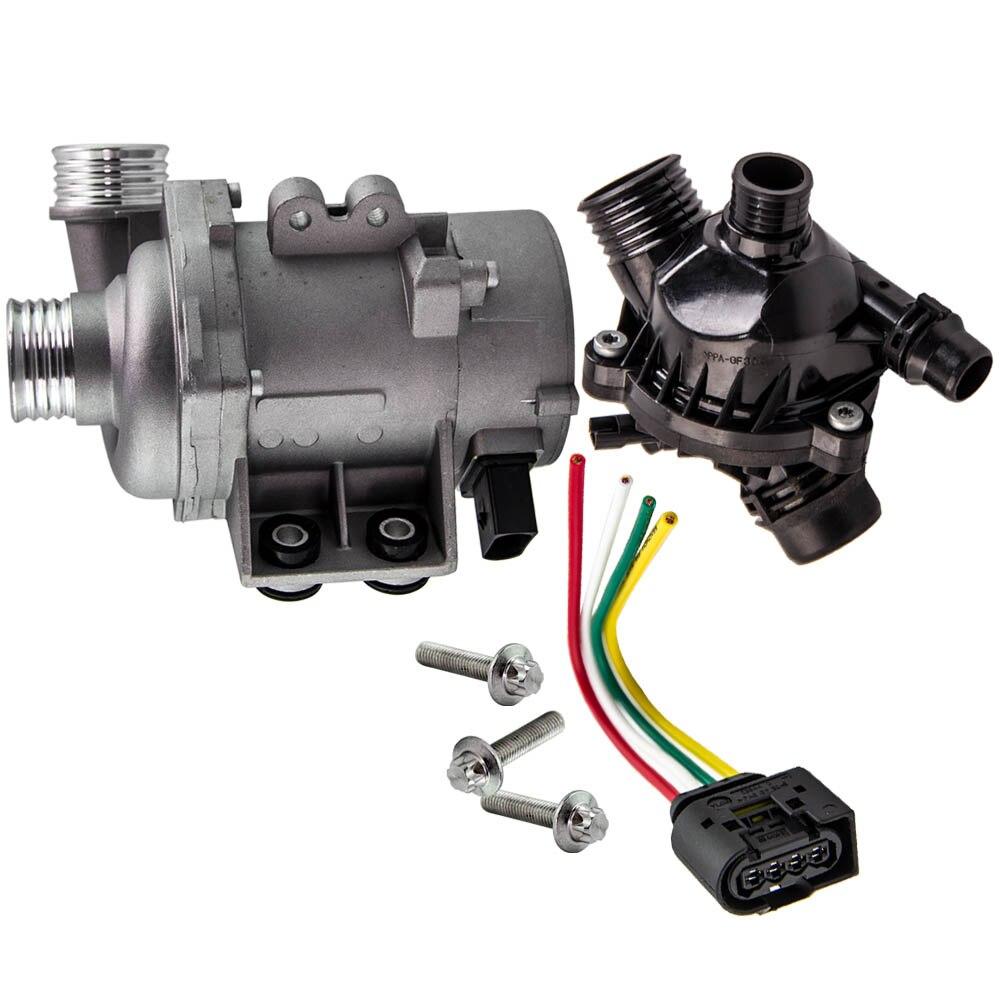 Электрический Двигатели для автомобиля водяной насос и термостат комплект для BMW 328i 528i 530xi 525xi X3 X5 E82 E85 E87 E89 11510392553