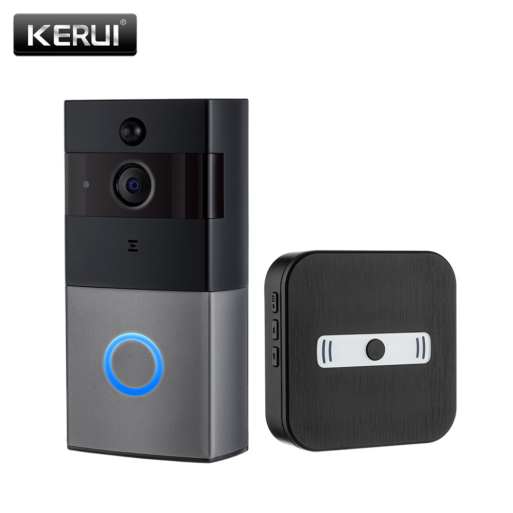 KERUI IP08 Smart Wireless WIFI Video Doorbell  Home Intercom 1080P IP Camera two Ways Audio Night Vision Phone APP Monitoring-in Doorbell from Security & Protection    1