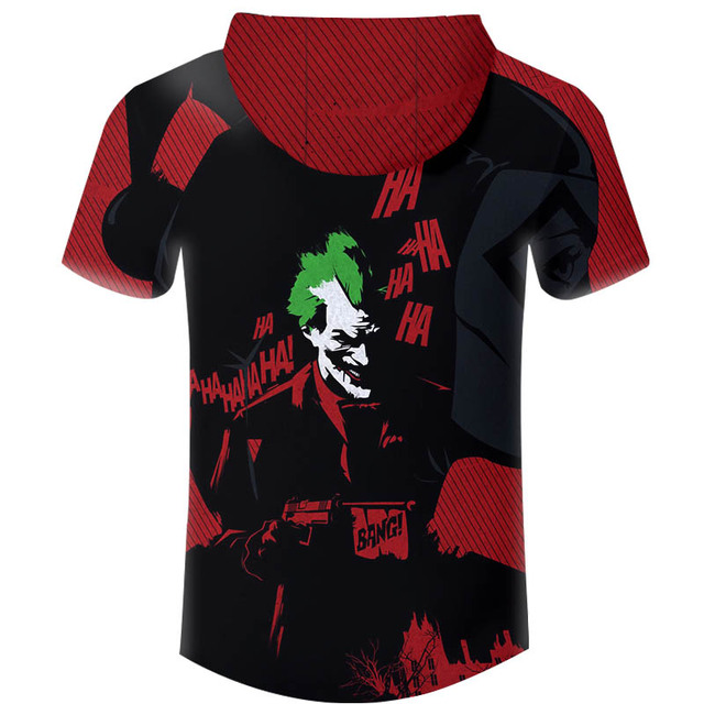 Casual Hoodies T-shirt Men T Shirt Anime Suicide Squad Joker