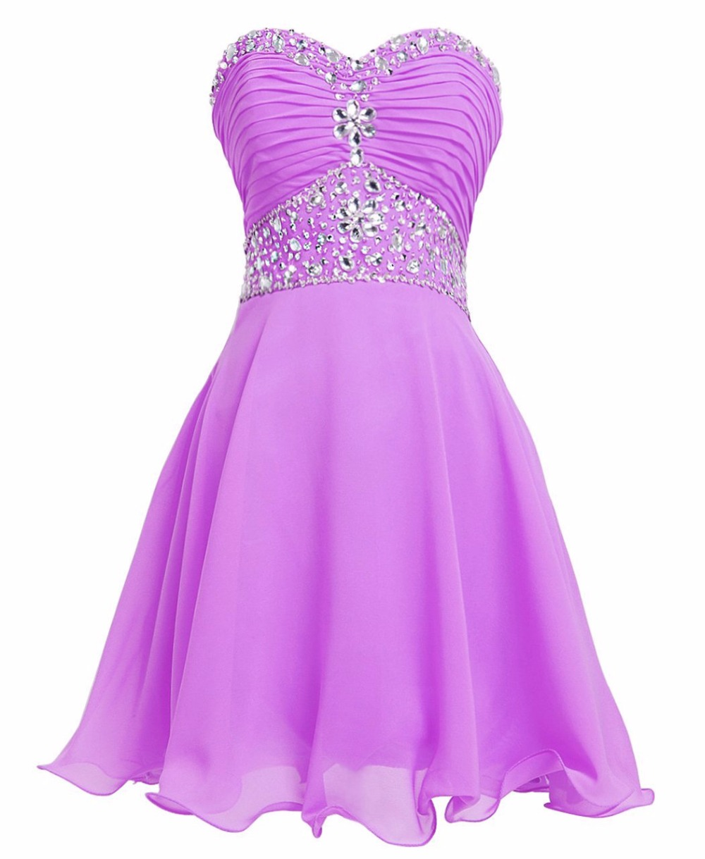 Short bridesmaid dress picture more detailed picture about purple sweetheart short bridesmaid dresses crystal beaded chiffon knee length mint green wedding party dress ombrellifo Images