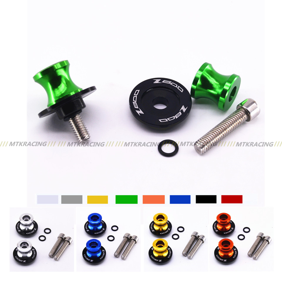 MTKRACING For KAWASAKI Z800 2012-2016 Motorcycle Accessories Swingarm Spools slider 8mm stand screws LOGO Z800 цена