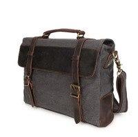 08251817 yesetn bag mens canvas vintage briefcase tote shoulder bag