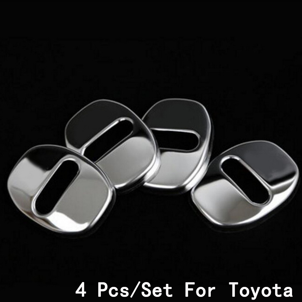 For Toyota Highlander/Levin/Corolla 14-16 New Buckle Cover Interior Decoration Modification Door Lock Stainless Steel