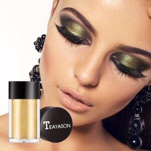 TEAYASON 1 Bottle 8 Colors Earth Color Eye Shadow Glitter Shimmer Powder Pearl Beauty Makeup Eyes Pigment Lasting Powder TSLM1